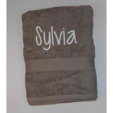 gratis handdoek taupe