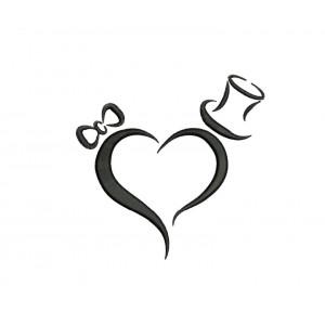 borduurpatroon bruiloft hart