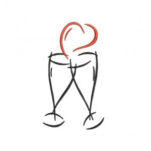 borduurpatroon bruiloft champagne1