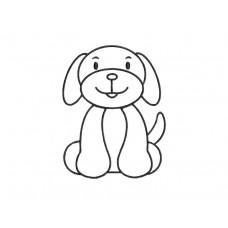 borduurpatroon dier hond