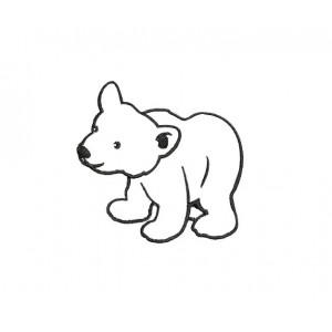 borduurpatroon dier ijsbeer