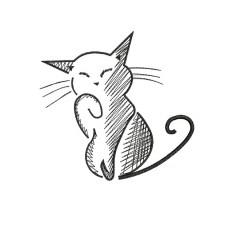 borduurpatroon dier kat