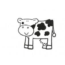 borduurpatroon dier koe