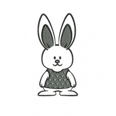 borduurpatroon dier konijn