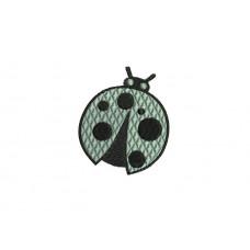 borduurpatroon dier lieveheersbeestje