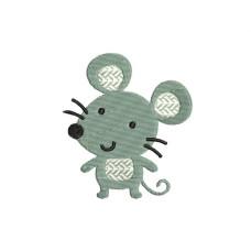 borduurpatroon dier muis