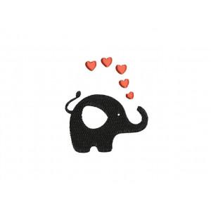 borduurpatroon dier olifant 1