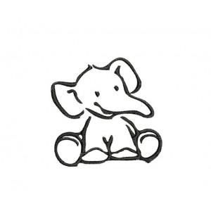borduurpatroon dier olifant 4