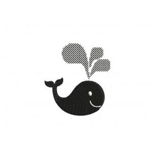 borduurpatroon dier walvis