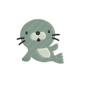 borduurpatroon dier zeehond
