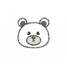 borduurpatroon dier kop beer