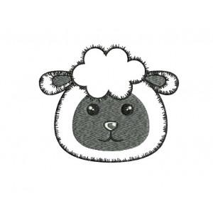 borduurpatroon dier kop schaap