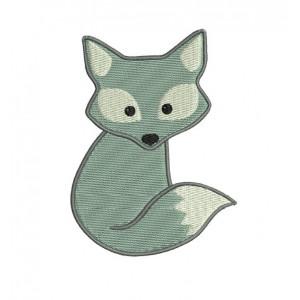 borduurpatroon dier vos