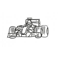 borduurpatroon voertuig racewagen