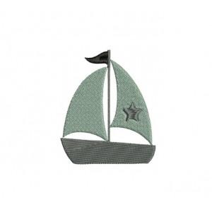 borduurpatroon voertuig zeilboot