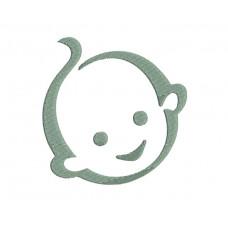 borduurpatroon babygezicht