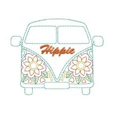 Borduurpatroon Hippie bus