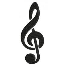 Borduurpatroon Muzieknoot los