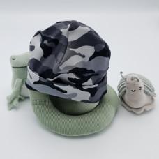 Babymuts Grijs camouflage