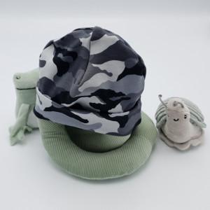 Babymuts Camouflage Grijs