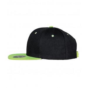 Snapback Contrast cap zwart lime