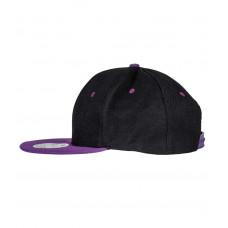 Snapback Contrast cap zwart paars