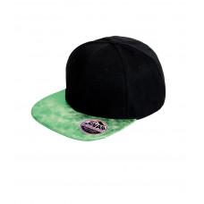 Snapback Cap zwart glitter klep groen