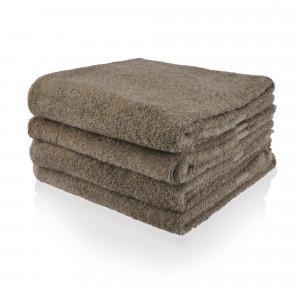Handdoek taupe donker