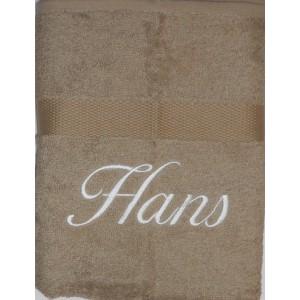 Handdoek taupe licht