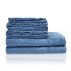 Badhanddoek luxe jeans blauw