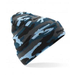 Beanie Camouflage blauw