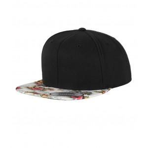 Floral Snapback cap wit bloem