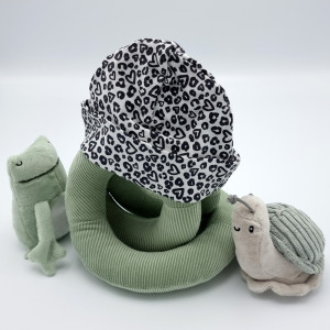 Babymuts print hartje luipaard