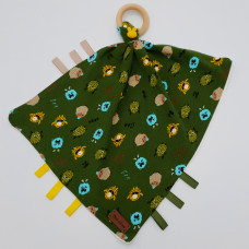 Baby knuffeldoek print monster