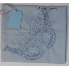 Theedoek blauw vlinder