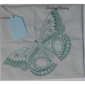 Theedoek mint vlinder