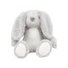 Knuffel buik mini Bunny grijs