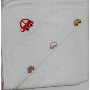 Badcape wit auto 2