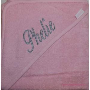 Badcape zacht roze