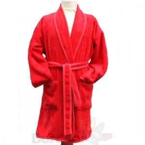 Kinderbadjas rood Op=Op