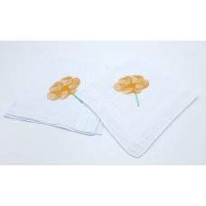 zakdoek met borduur bloem