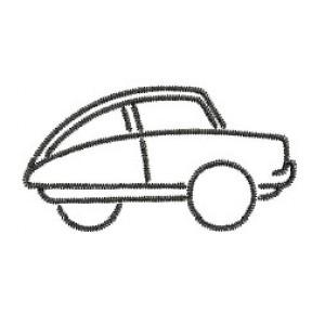 Borduurpatroon Auto lijn