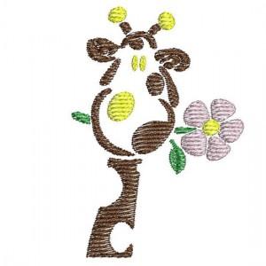 Borduurpatroon Giraf bloem