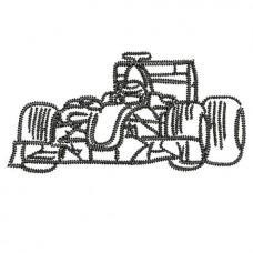 Borduurpatroon Racewagen