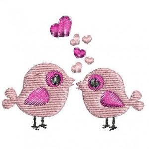 Borduurpatroon Vogeltjes love