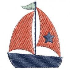 Borduurpatroon Zeilboot