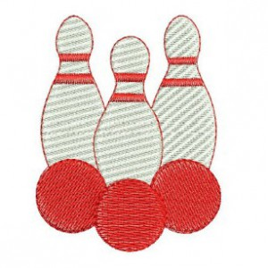Borduurpatroon Bowling