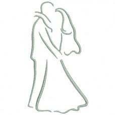 Borduurpatroon Bruidspaar dans