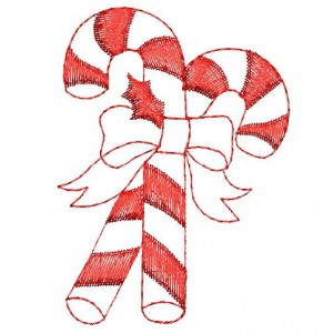 Borduurpatroon Candy cane