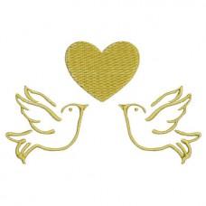 Borduurpatroon Duiven hartje